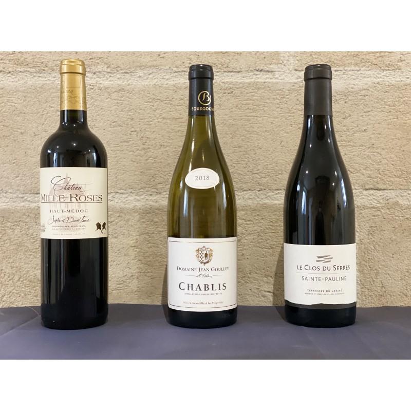 Coffret cadeau Plaisir 3 bouteilles