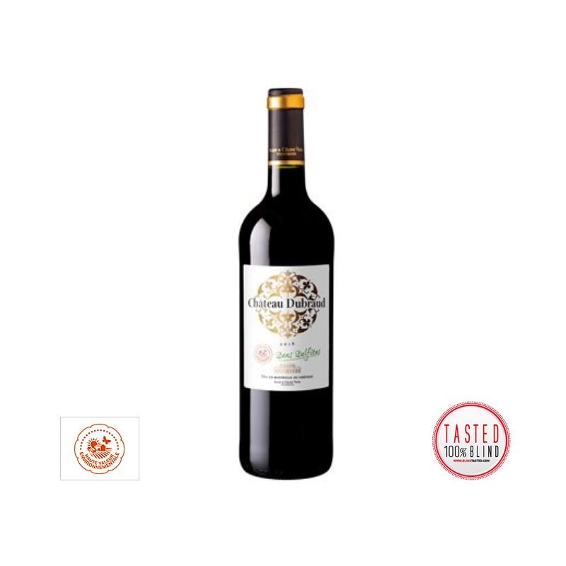 AOC Blaye Cote de Bordeaux rouge Sans Sulfites 2018